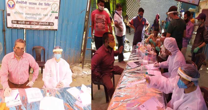Seva Bharti runs awareness campaign camp organized regarding Corona ALBSNT