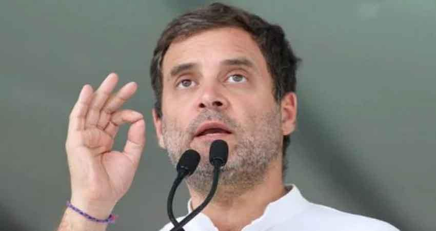 maharashtra rahul gandhi took a dig at pm modi said send youth to the moon only after full meal