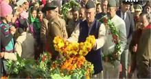 उत्तराखंड के मुख्यमंत्री ने देहरादून में सीआरपीएफ जवान को दी श्रद्धांजलि