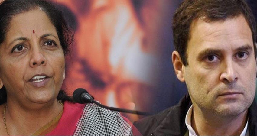 nirmala-sitharaman-counter-attacks-on-rahul-gandhi-over-supreme-court-order-in-rafale-case