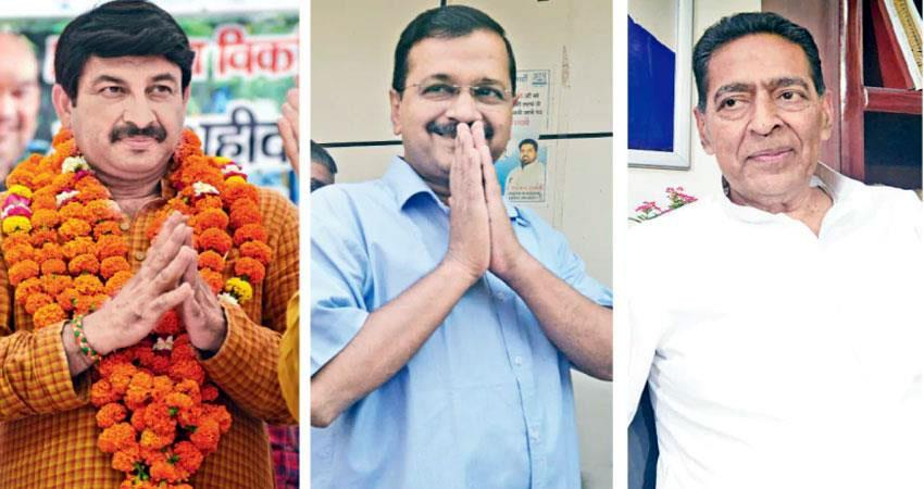aap congress bjp candidates got the ticket from which seat