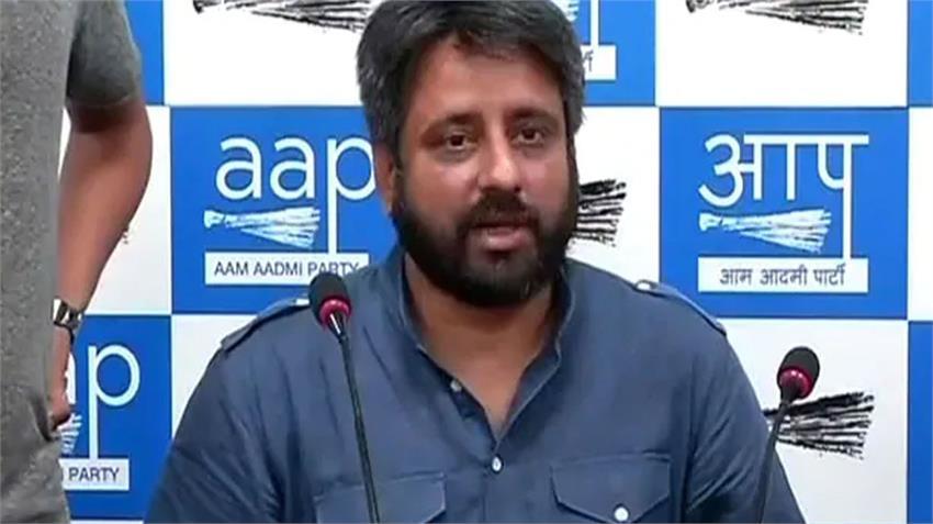AAP MLA Amanatullah Khan support Maulana Saad tells Mukhtar Naqvi Arif Khan broker RKDSNT