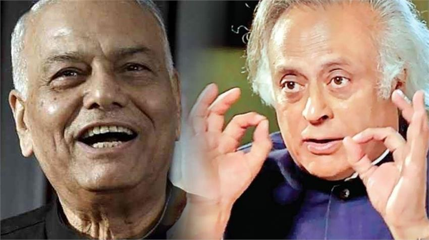 yashwant sinha says if lockdown go barber shops close forced hair style of jairam ramesh rkdsnt