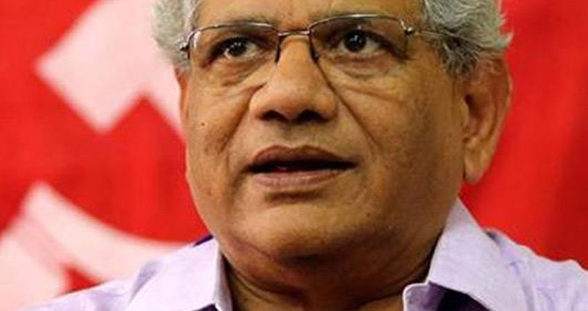 cpim sitaram yechury says modi bjp govt move to continue central vista project ridiculous rkdsnt