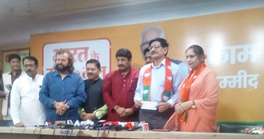 former army officer from bjps nation first policy is affected manoj tewari