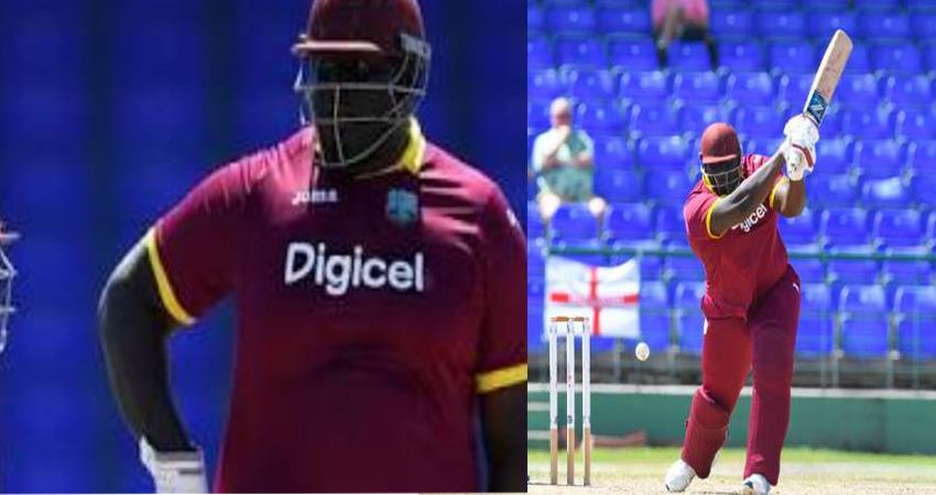 west indies announced their test team and included 140 kg heaviest cricketer in the team