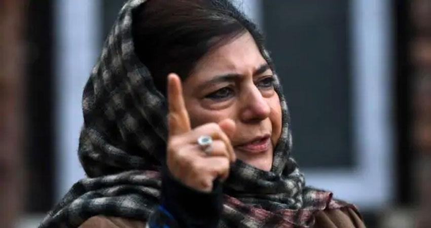 mehbooba muftis big said  government should talk to pakistan albsnt