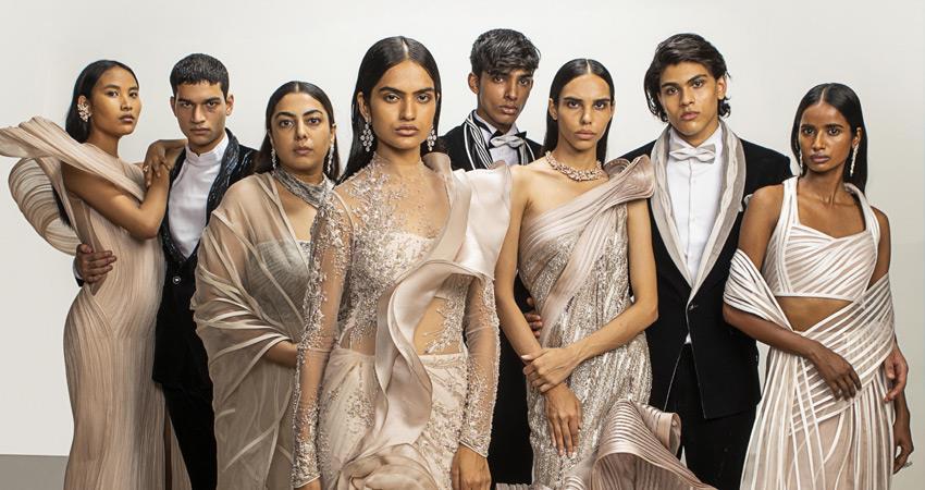 digital icw fashionable looks digital india couture week view corona virus fashion show rkdsnt