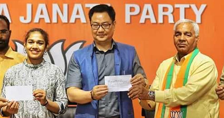 babita phogat wrestler resignation accepted by haryana police may fight election on bjp ticket