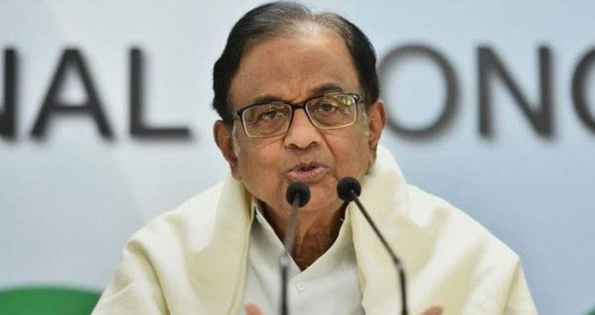 p chidambaram made special appeal to mp and bihar voters over biden comment rkdsnt
