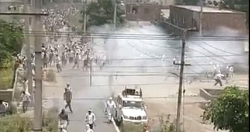 haryana police lathicharge on farmers opposing cm khattar aap raises questions rkdsnt