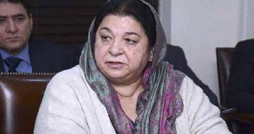 pakistans health minister was seen coughing up at the press conference prsgnt