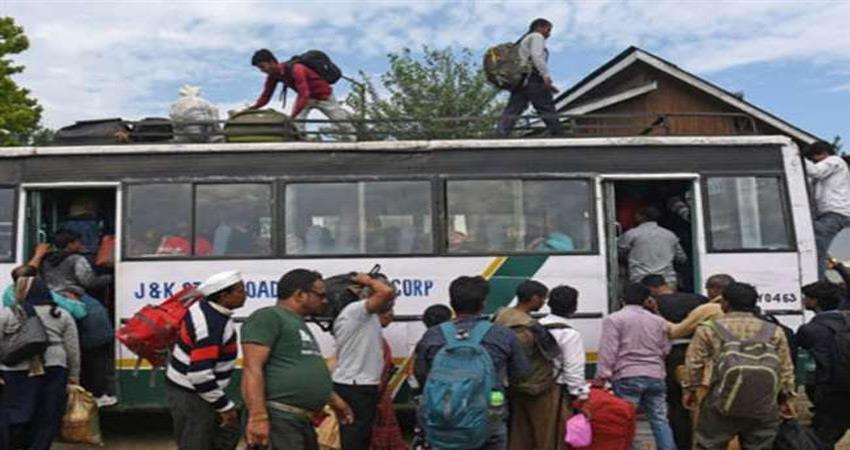 nit students in srinagar start leaving after overnight advisory