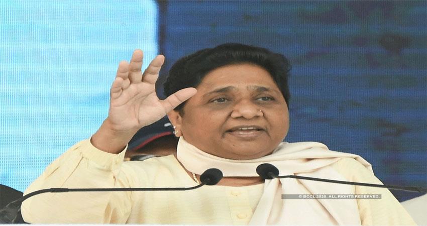 Mayawati said disharmony spread in society under ModiYogi rule ALBSNT