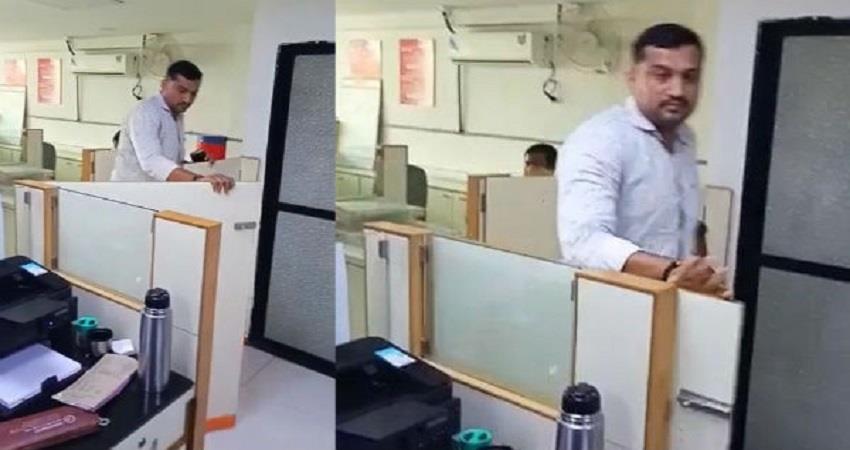 gujarat surat police constable viral video fir ncw  sobhnt