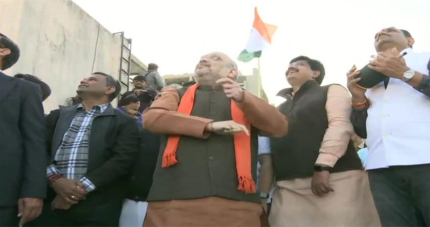 amit shah was seen fighting punches at the kite festival in ahmedabad