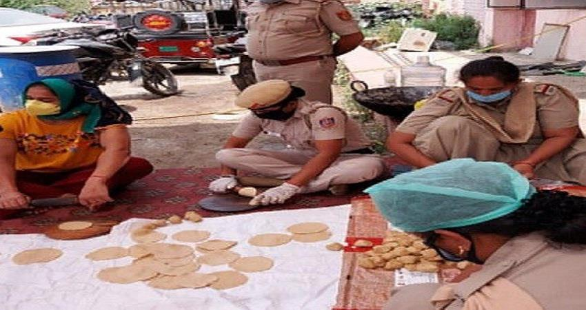 babita phogat made food for the needy in collaboration with policemen sohsnt