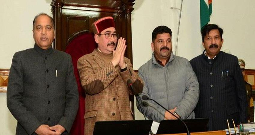 vipin singh parmar unanimously elected 17th speaker of the legislative assembly