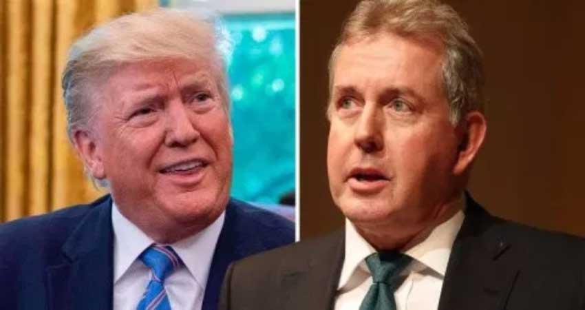 uk ambassador to says donald trump inept and dysfunctional