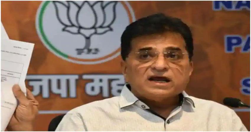 BJP leader Kirit Soumaiya accuses Transport Minister of making sensational allegations ALBSNT