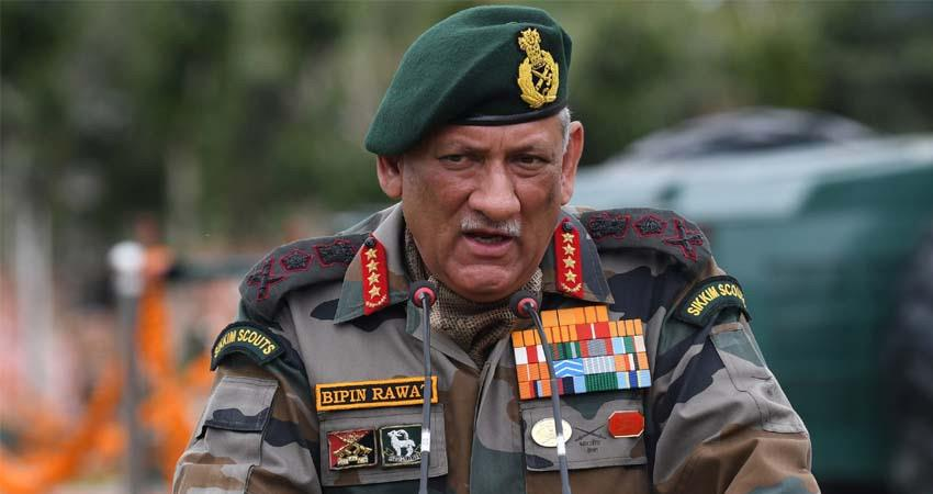 army chief general bipin rawat ignore pakistan deploying military forces loc jammu and kashmir