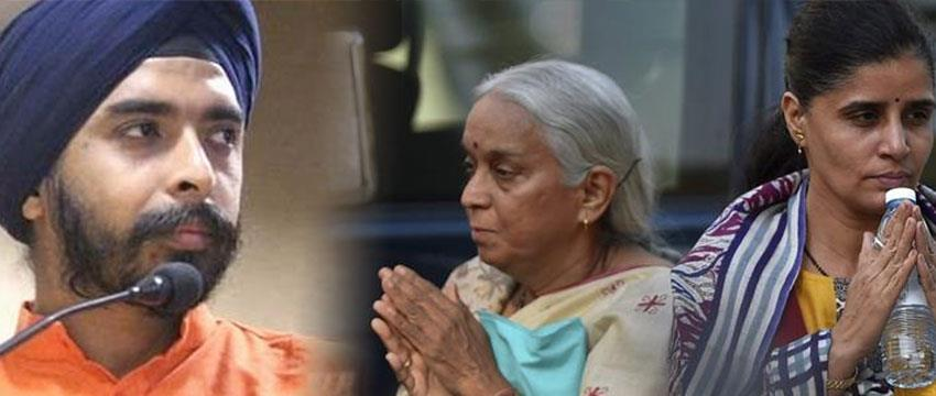 bjp-leader-tajinder-bagga-send-slippers-to-pakistan-high-commission-kulbhushan-wife-revenge