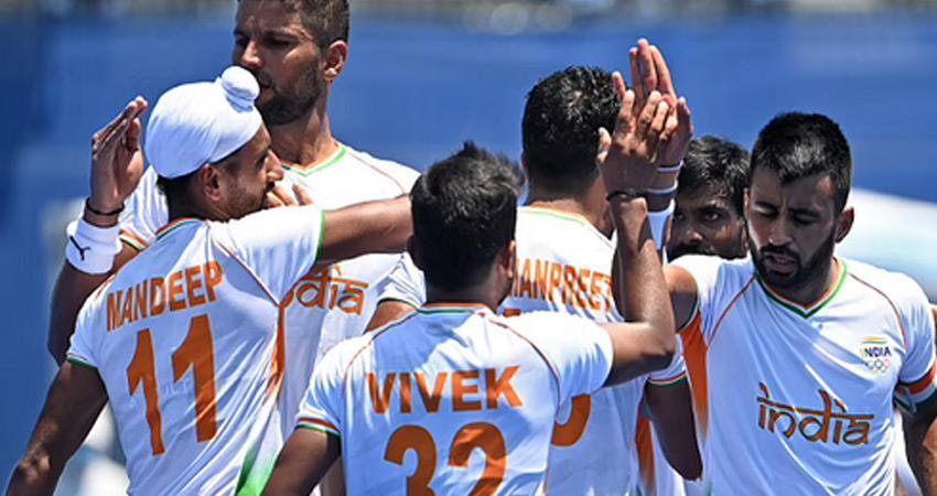 tokyo olympic games olympic hockey india men team beats great britain enter semi-finals
