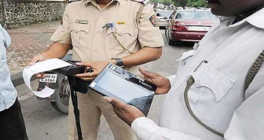 new-scooty-of-65000-rupees-one-lakh-challan-driver-upset