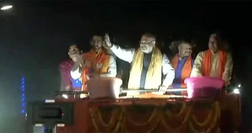 home-minister-amit-shah-did-road-show-in-bengal-targeted-mamta-albsnt