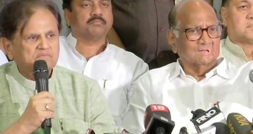 maharashtra govt congress leaders met ncp chief sharad pawar not happy president rule