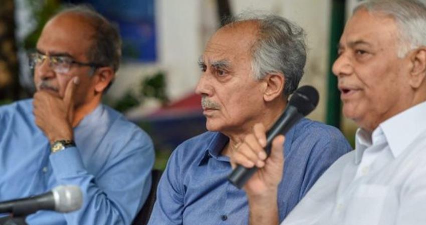 prashant bhushan arun shourie yashwant sinha say cbi should register an fir rafale deal case