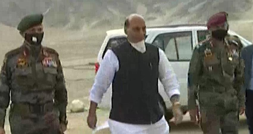 defense minister rajnath singh says no power can take one inch of india land rkdsnt