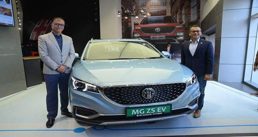 mg motor launches electric car there is huge enthusiasm among customers