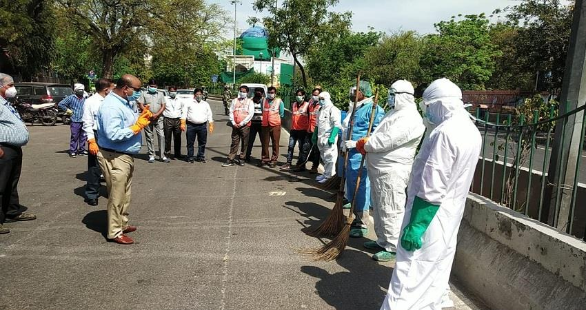 sdmc launches special sanitation campaign at sealed hotspots in the capital albsnt