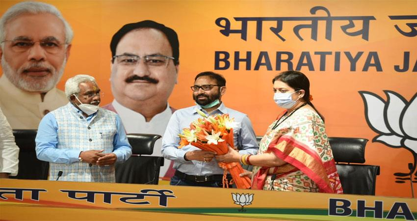 Pritam Singh who joined the saffron party in the presence of Smriti Irani ALBSNT