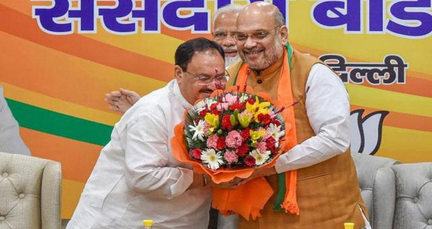 jp nadda will be given the command on monday as amit shahs successor