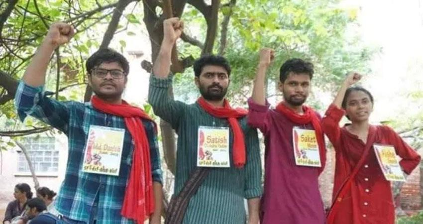 Lal Salute again in JNU wins all four positions