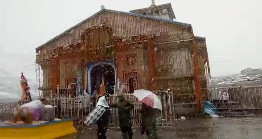 badrinath-dham-the-cold-rising-due-to-rain