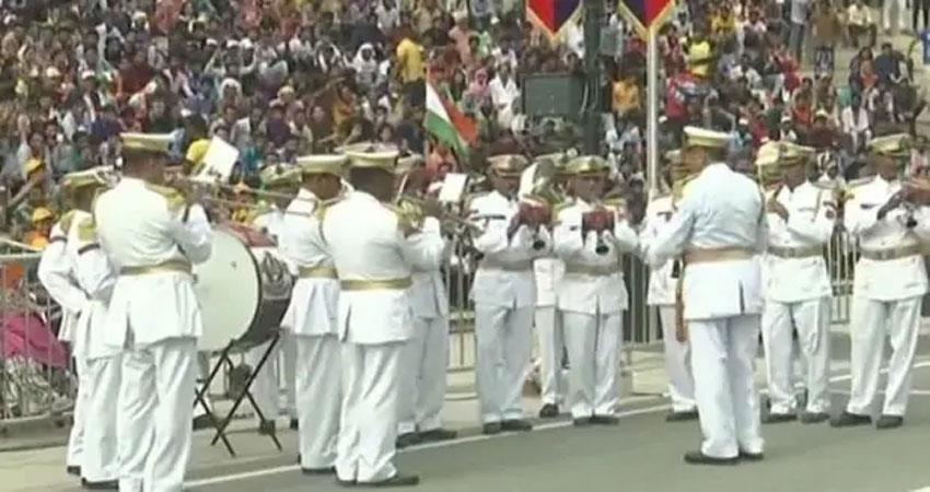 Army soldiers celebrated independence festival with full enthusiasm at the attic border