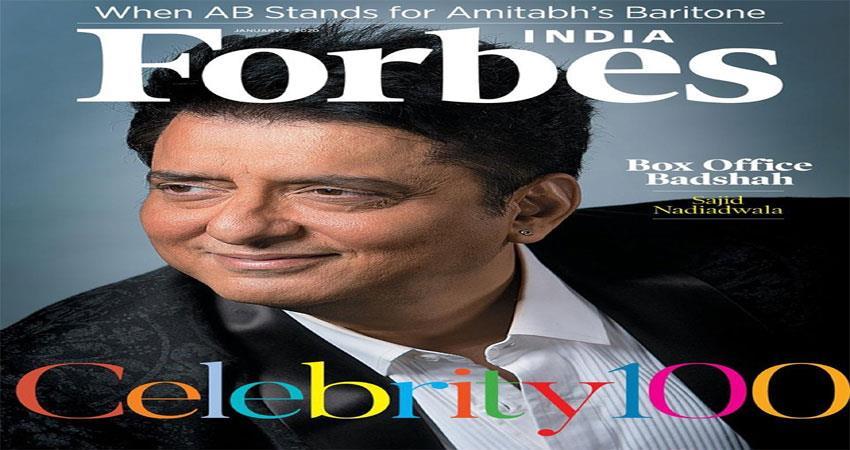 sajid nadiadwala was included in forbes celebrity 100 list