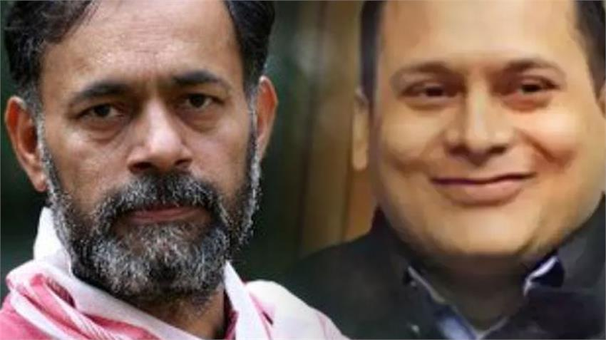 yogendra yadav swaraj india demand up police case against amit malviya chief of bjp it cell rkdsnt