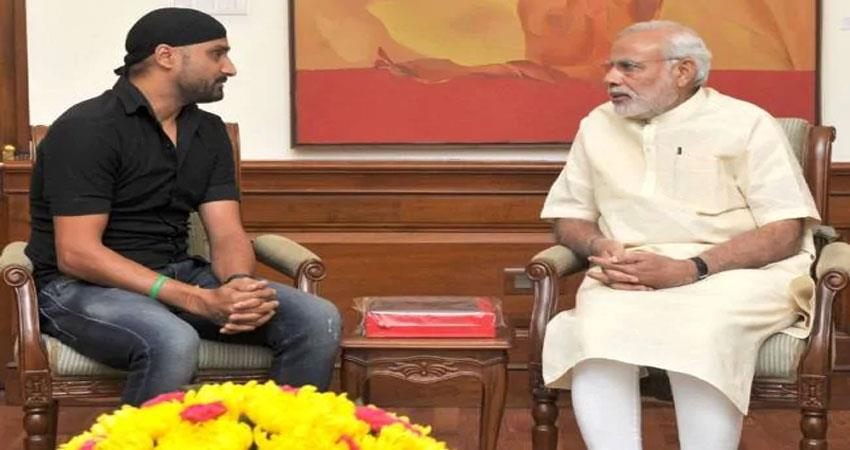 harbhajan singh appealed to prime minister modi said save us from the pollution of north india