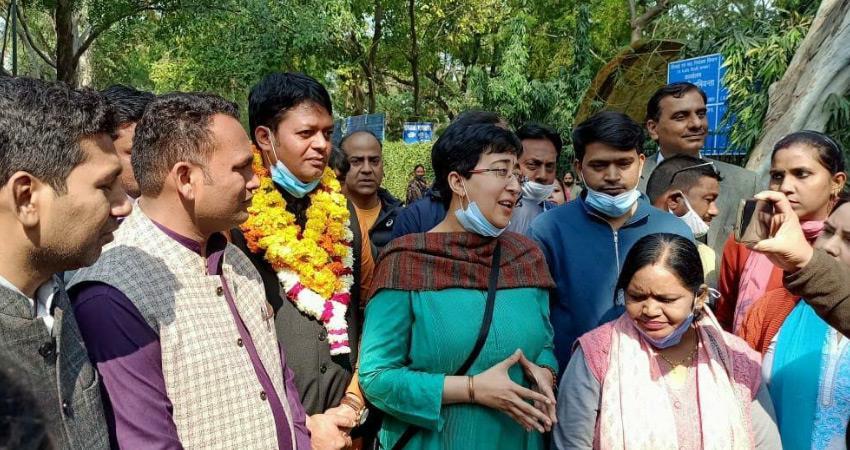 aap delhi candidates filed nomination for mcd by election rkdsnt
