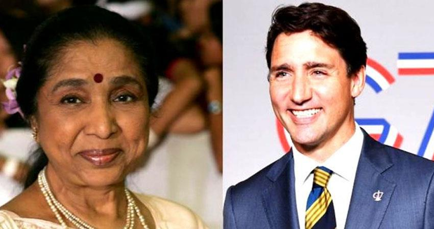 canadian prime minister sent asha bhosle happy birthday singer shared photos