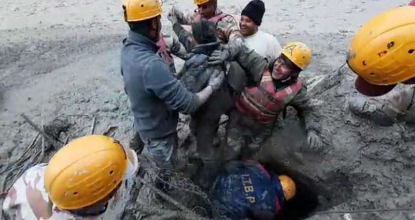 heavy destruction due to bursting of glacier in chamoli president pm expressed grief albsnt