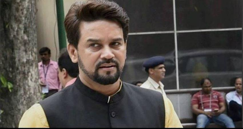 union minister anurag thakur gave controversial slogan opposition parties targeted