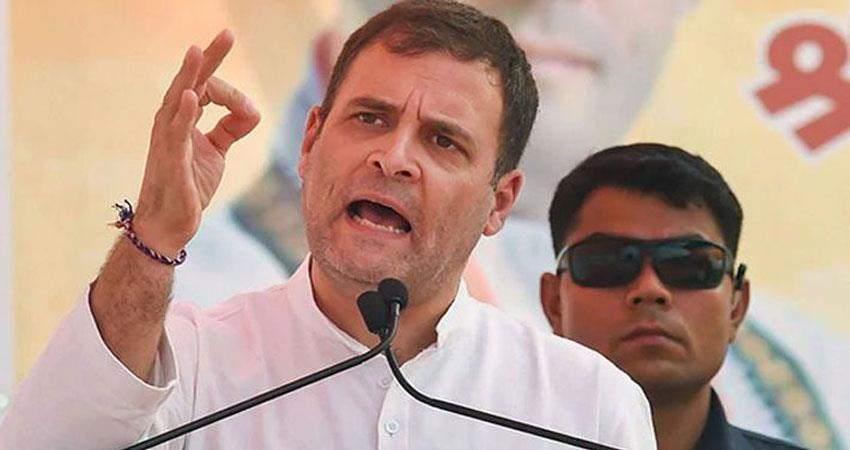 rahul gandhi said clapping and playing the plate does not improve the economy