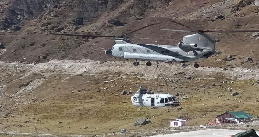 Chinook transported tractor and other construction materials to Kedarnath Dham ALBSNT