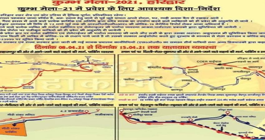 the routes to come to haridwar will be changed from today albsnt