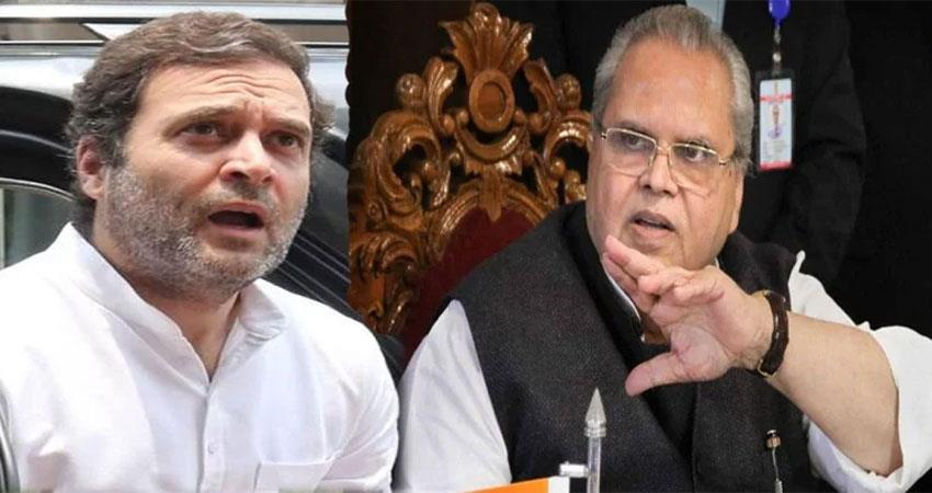rahul is desperate to go to kashmir governor said will reply after august 15
